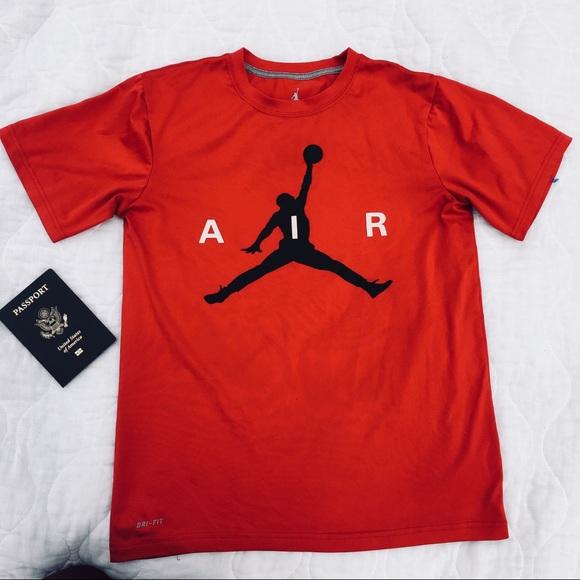 b5541f43 Jordan Shirts | Nike Mens Red Air T Shirt | Poshmark